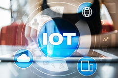 IOT. Internet of Thing concept. Multichannel online communication network. Stock Images