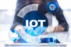 IOT. Internet of Thing concept. Multichannel online communication network. Royalty Free Stock Photos