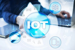 IOT. Internet of Thing concept. Multichannel online communication network Royalty Free Stock Photos
