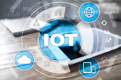 IOT. Internet of Thing concept. Multichannel online communication network. Stock Photography