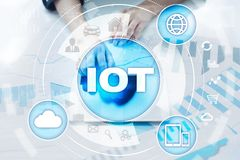 IOT. Internet of Thing concept. Multichannel online communication network. Stock Photo