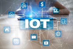 IOT. Internet of Thing concept. Multichannel online communication network. Stock Image