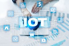 IOT. Internet of Thing concept. Multichannel online communication network. Royalty Free Stock Photo