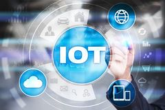 IOT. Internet of Thing concept. Multichannel online communication network. Royalty Free Stock Photography