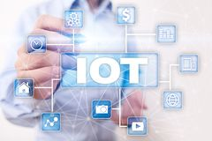 IOT. Internet of Thing concept. Multichannel online communication network 4.0 technology internet wireless application Stock Photography