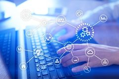 IOT. Internet of things. Automation and modern technology concept. stock photography