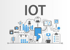 IOT Internet of Things concept as  illustration.  Royalty Free Stock Images