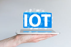 IOT (internet of things) concept and information technology background. Stock Photos
