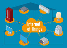 IoT(Internet of Things) image illustration Royalty Free Stock Photo
