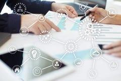 IOT Internet van Dingen Automatisering en modern technologieconcept royalty-vrije stock afbeeldingen