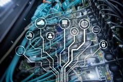 IOT, Internet van dingen, telecommunicatieconcept stock fotografie