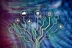 IOT, Internet van dingen, telecommunicatieconcept stock illustratie