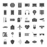 Iot sieci Stałe ikony Zdjęcia Stock