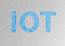 IOT-Text als Illustration Internet des Sachenbegriffshintergrundes Lizenzfreies Stockfoto