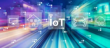 IoT theme with high speed motion blur royalty free stock images