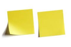 κολλώδης κίτρινος σημε&iota Στοκ Εικόνα