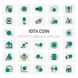 IOTA Coin Crypto Currency icons set. For web design and application interface, also useful for infographics. Vector illustration Royalty Free Stock Photography