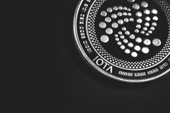 Iota coin cryptocurrency royalty free stock image