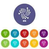 Iota icon, simple style. Iota icon. Simple illustration of iota vector icon for web Royalty Free Stock Image