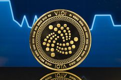 Iota is a modern way of exchange and this crypto currency stock photography