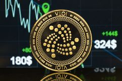 Iota is a modern way of exchange and this crypto currency royalty free stock photo
