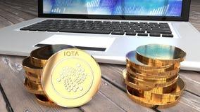 Iota, moneda crypto de la moneda, efectivo en línea Fotos de archivo libres de regalías