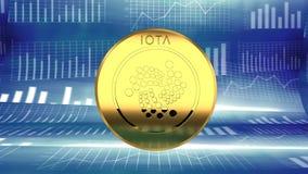 Iota, moneta cyber, nuova valuta cyber, alternativa del bitcoin illustrazione di stock