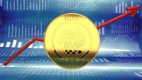 Iota, soldi online, moneta cyber digitale, alternativa del bitcoin illustrazione di stock