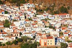 Ioulida, la capital de Kea en Grecia Imágenes de archivo libres de regalías