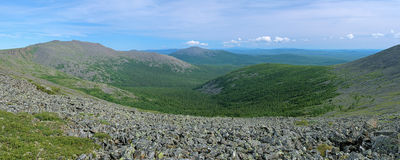 Iov Mount, Burtym Mount and slope of Serebryanskiy Rock Mount, Russia Stock Photography