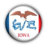 Iowa bandery guzik rundę stanu usa ilustracja wektor