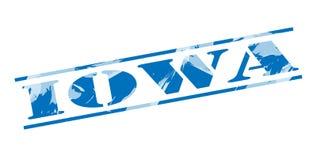 Iowa blue stamp Royalty Free Stock Image