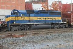 Iowa Chicago & Wschodnia lokomotywa zdjęcia stock