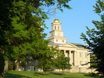 Iowa City. View of the Capitol in Iowa City royalty free stock photo