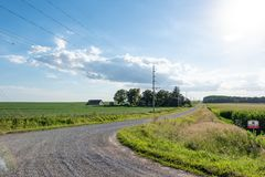 Iowa country landscape stock photography