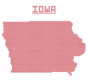 Iowa Dot Map. A dot map of Iowa state  on a white background Stock Image