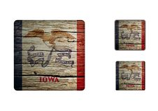Iowa Flag Buttons Royalty Free Stock Images
