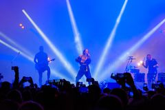 IOWA group performing at live concert. Moscow, Russia - September 9, 2017: IOWA group performing at live concert Stock Images
