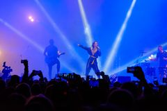 IOWA group performing at live concert. Moscow, Russia - September 9, 2017: IOWA group performing at live concert Stock Photo