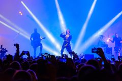 IOWA group performing at live concert. Moscow, Russia - September 9, 2017: IOWA group performing at live concert Royalty Free Stock Photo