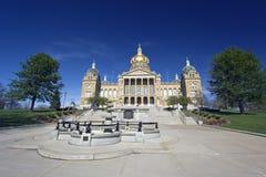 Iowa - het Capitool van de Staat Stock Foto