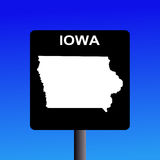 Iowa highway sign Stock Photo