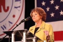 Iowa House Speaker Select Linda Upmeyer speaks Stock Images