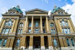 Iowa huvudstadbyggnad Arkivfoto
