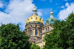 Iowa huvudstadbyggnad Fotografering för Bildbyråer