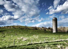 Iowa jordbruksmark - gräsplan betar Fotografering för Bildbyråer