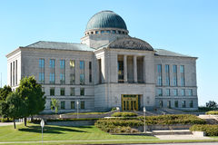 Iowa Judicial Branch building. The Iowa Judicial Branch building in Des Moines. The state Supreme Court, composed of a Chief Justice and six Associate Justices stock photo