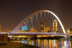 Iowa kobiety osiągnięcie most Zdjęcie Royalty Free