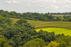 The Iowa Landscape is the Most Amazing. Iowa Farm land, is touched by God. It is the most awe inspiring landscape you would ever want to see royalty free stock photography