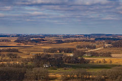Iowa Landscape. Looking out over beautiful Northern Iowa on a late November day Royalty Free Stock Photo